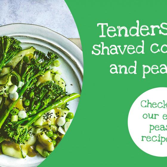 Tenderstem® broccoli, Courgette & Pea Salad with Lemon & Miso Dressing