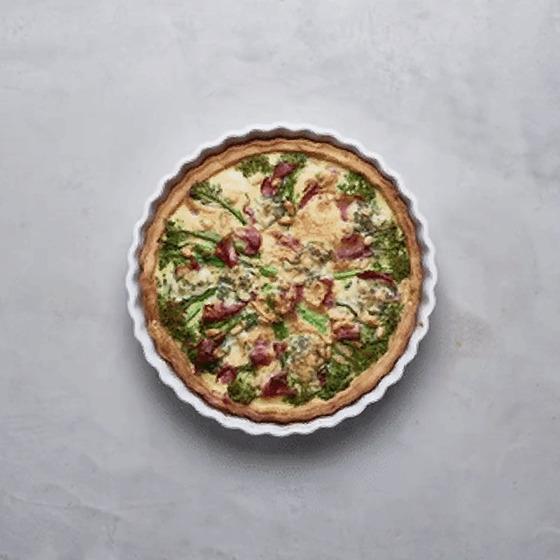 Tenderstem® broccoli, Stilton and Prosciutto Tart