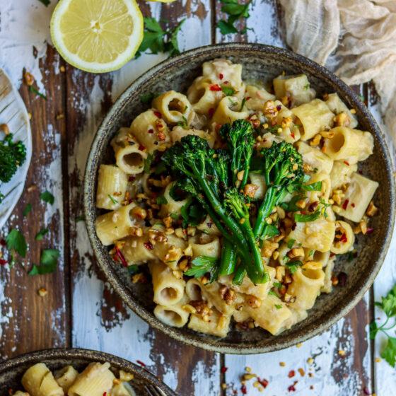 Creamy Tuscan Cannellini Bean Pasta with Tenderstem® broccoli