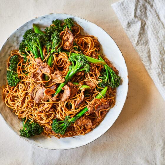 Easy Pork and Tenderstem® broccoli stir fry