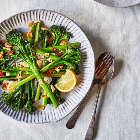 Simple garlic, chilli and lemon Tenderstem® broccoli side dish