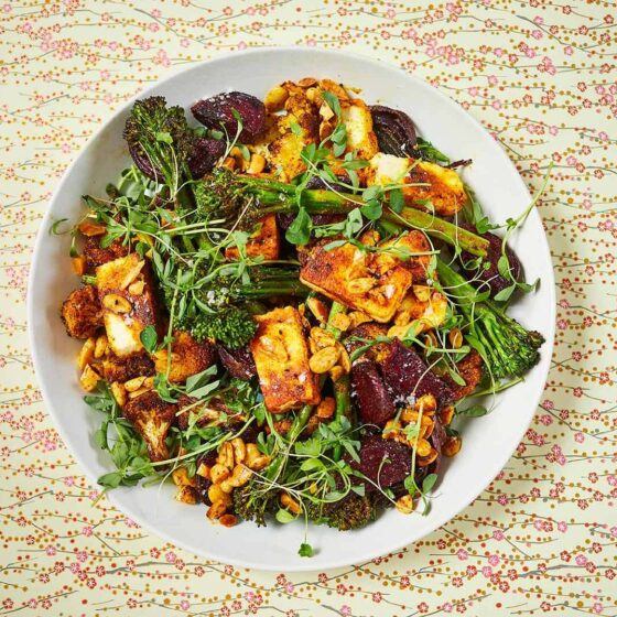 Indian-spiced salad with Tenderstem® broccoli, paneer and beetroot by Meera Sodha