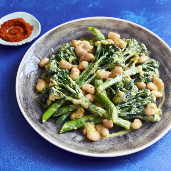 Tenderstem® broccoli with saffron cream