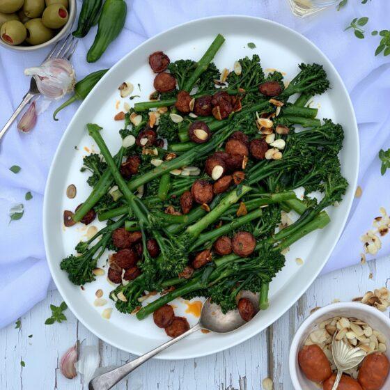 Spanish Tenderstem® broccoli with chorizo, garlic & almonds