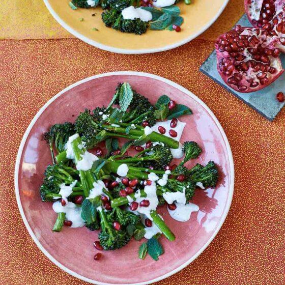 Roast Tenderstem® broccoli with Herbed Yoghurt by Yasmin Khan