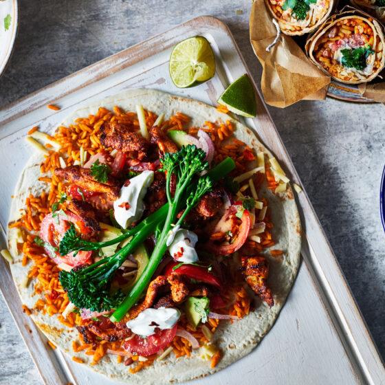 Tenderstem® broccoli and spiced chicken burrito
