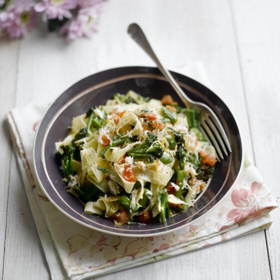 Crab & Tenderstem® broccoli TagIiatelle with Lemon & Basil