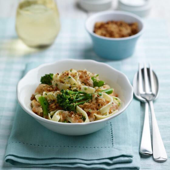 Creamy Tenderstem® broccoli & Salmon Pasta