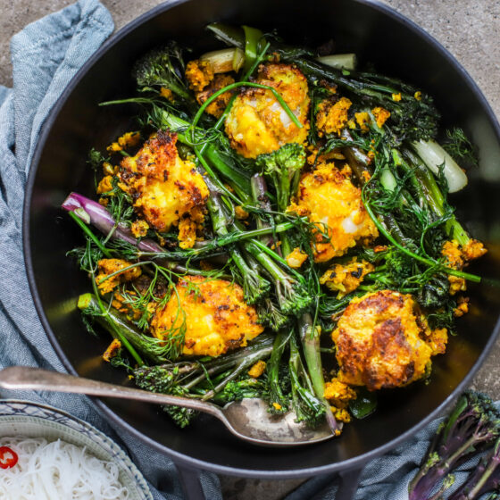 Vietnamese-Inspired Fish and Tenderstem Royale® with Turmeric and Dill