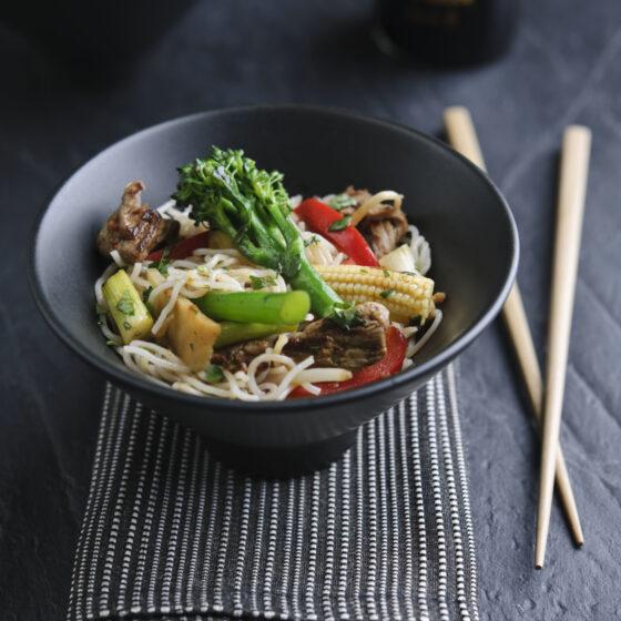 Beef and Tenderstem® broccoli stir fry noodles