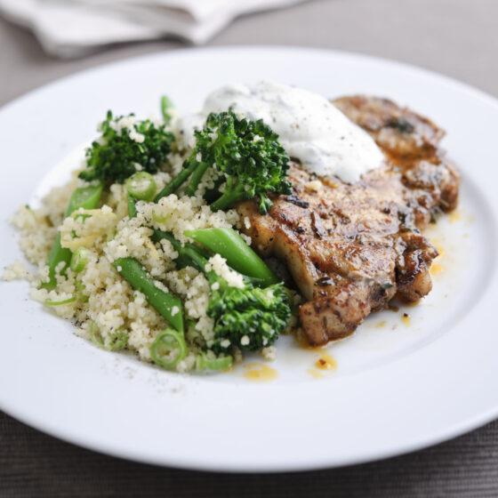 Honey & Paprika Pork Chop with Tenderstem® broccoli & Lemon Couscous