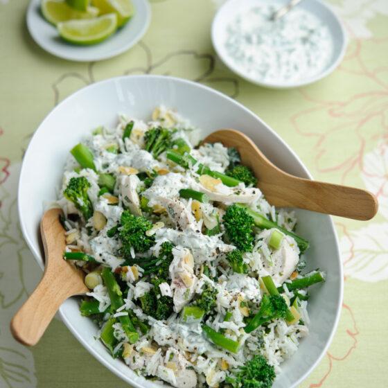 Lime & Coriander Chicken & Tenderstem® broccoli Rice Salad