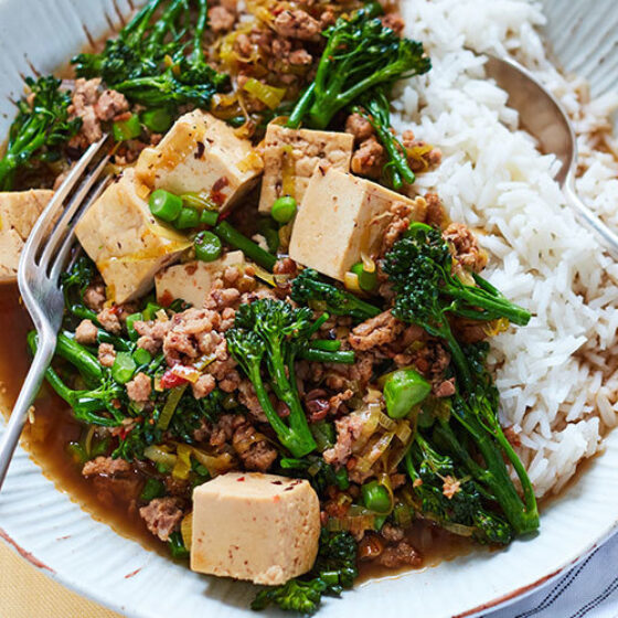Mapo Tofu with Pork & Tenderstem® broccoli