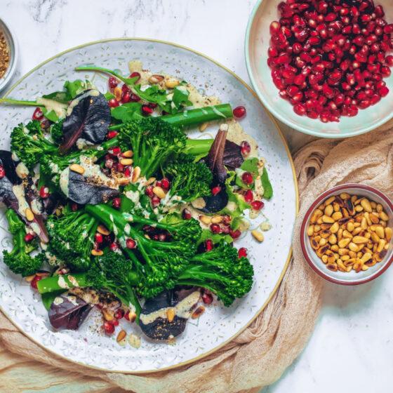 Middle Eastern Tenderstem® broccoli Salad Tahini Za'atar Dressing