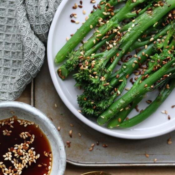 Charred Tenderstem® broccoli with Oriental Dressing