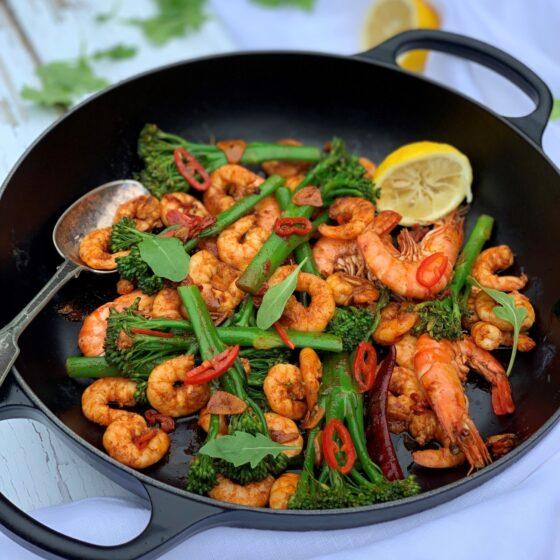 Tenderstem® broccoli & Prawns Pil Pil