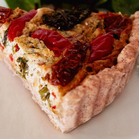 Roasted Tenderstem® broccoli , Red Pepper & Sun-Dried Tomato Quiche
