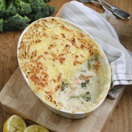 Tenderstem® broccoli & Seafood Pie