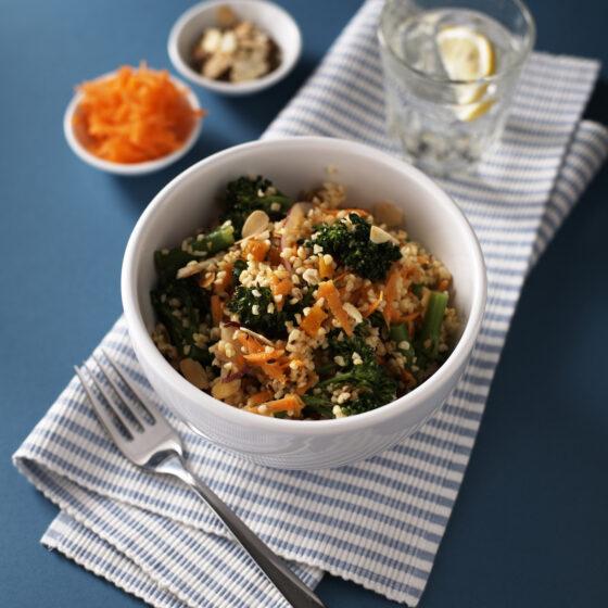 Tenderstem® broccoli, Carrot & Bulgur Wheat Salad