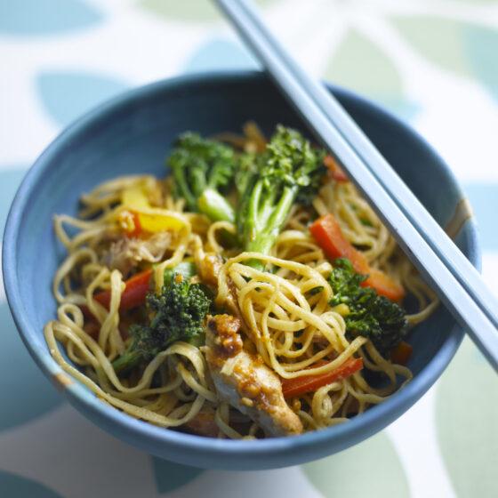 Monday Night Tenderstem® broccoli & Chicken Peanut Noodles