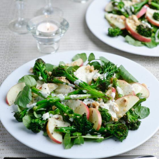 Tenderstem® broccoli, Horseradish, Pink Lady® Apple & Toasted Hazelnut Salad