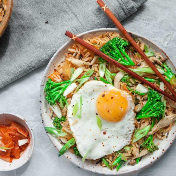 Wok Fried Tenderstem® broccoli Kimchi Bokumbap