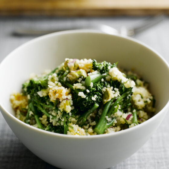 Tenderstem® broccoli Salad with Cracked Wheat, Pistachio, Mint, Parsley & Apricots