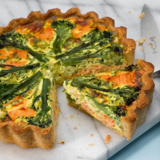 Tenderstem® Broccoli Smoked Salmon Tart