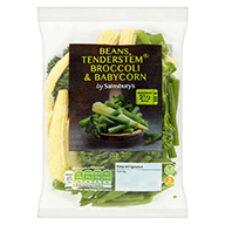 Sainsbury's Tenderstem® broccoli, Fine Beans and Babycorn Mix